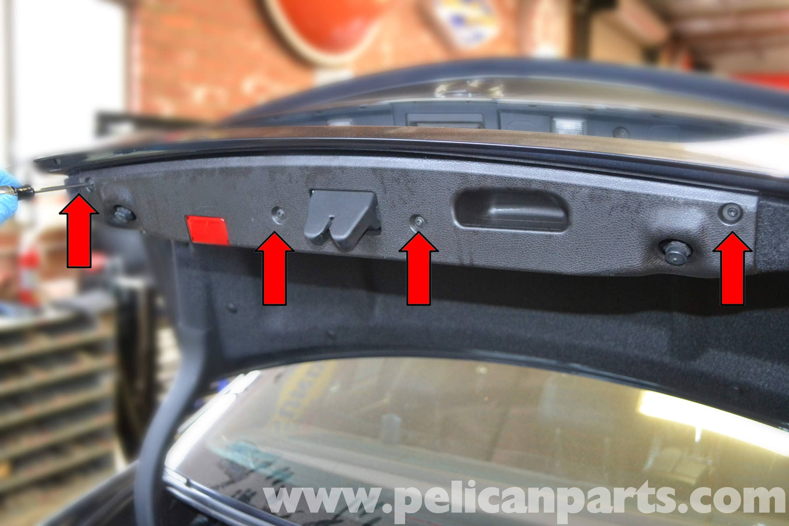 mercedes benz w204 trunk interior panel and trim removal 2008 rh  pelicanparts com 1991 Mercedes -Benz Fuse Diagram 1999 Mercedes E320 Fuse  Diagram
