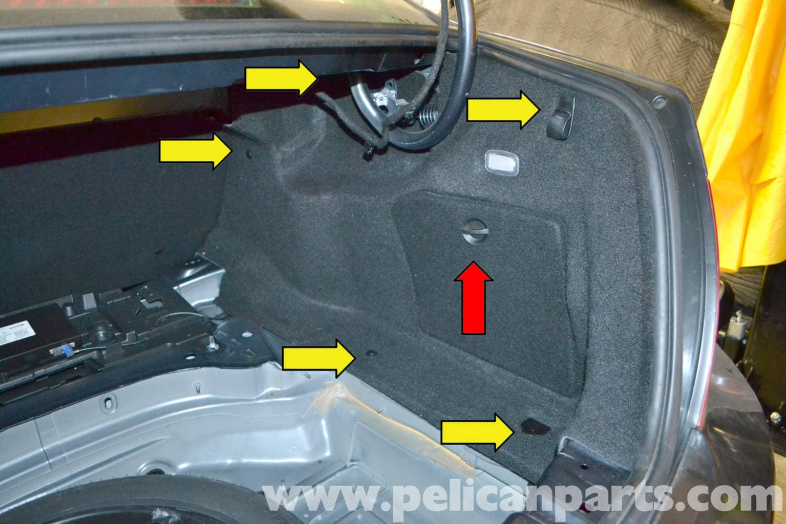 Mercedes Benz W204 Trunk Interior Panel And Trim Removal