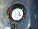 You will need to remove the locking ring that holds the pump in place in the gas tank.