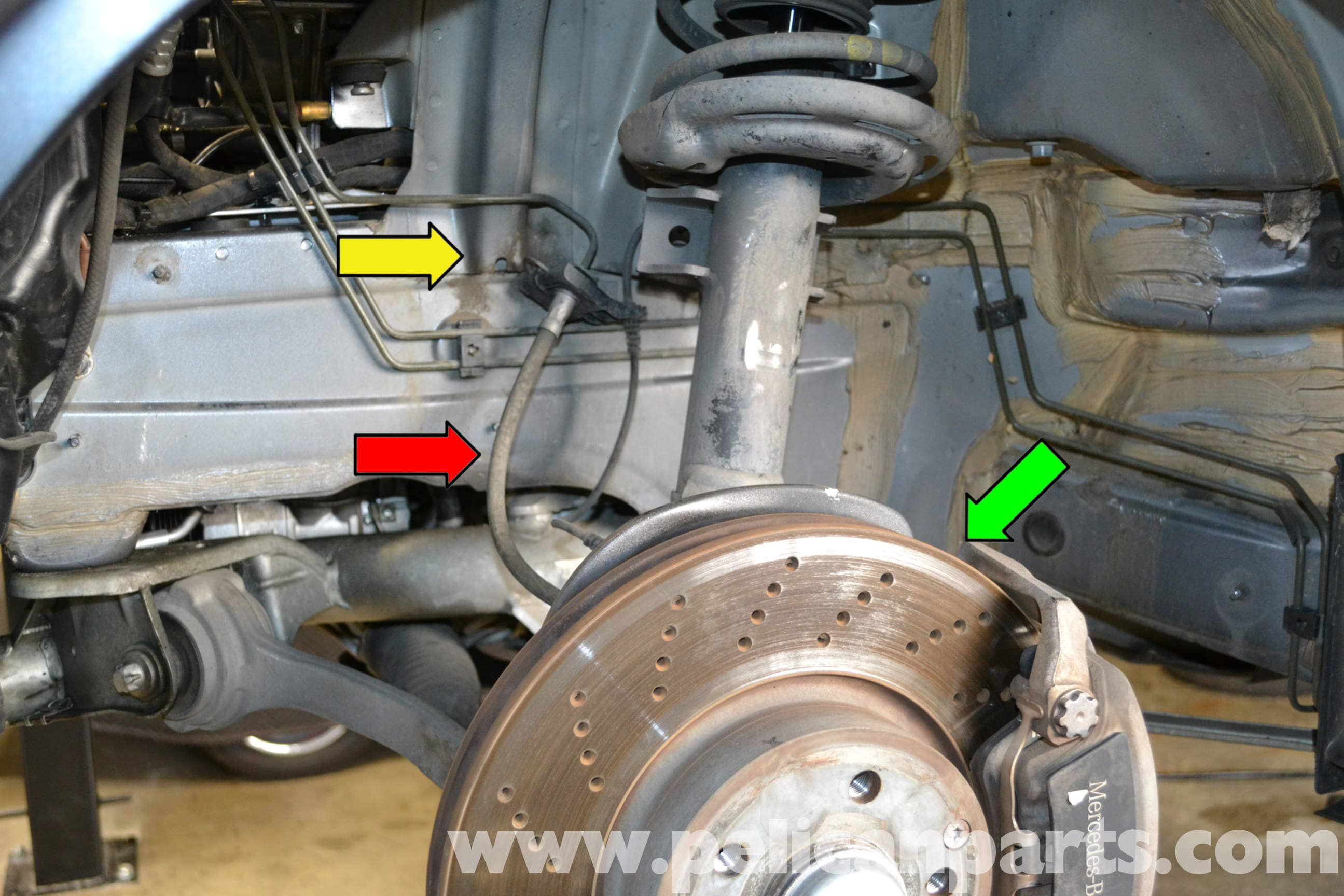 How Do You Bleed Brakes >> Mercedes-Benz W204 Brake Line Replacement - (2008-2014) C250, C300, C350 | Pelican Parts DIY ...