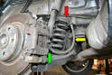 Rear- The rear hoses are similar to the fronts but have a wire wrap on them for additional protection from debris.