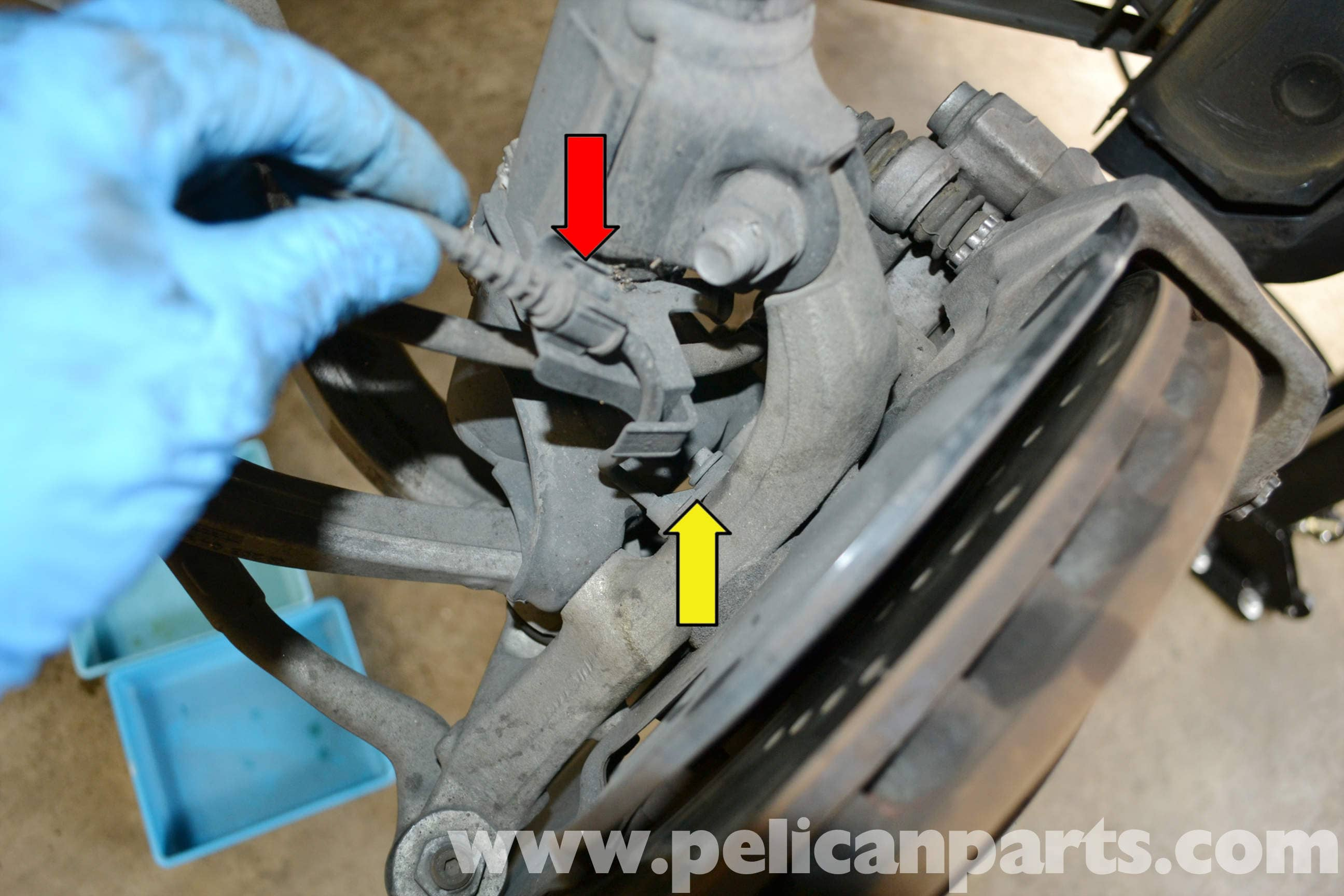 Mercedes-Benz W204 ABS Wheel Speed Sensor Replacement