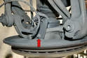 Rear- Use an E12 wrench and remove the plastic mount that holds the cable and sensor in place (red arrow).