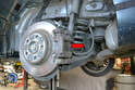 The rear brakes on the W204 are comprised of floating calipers.