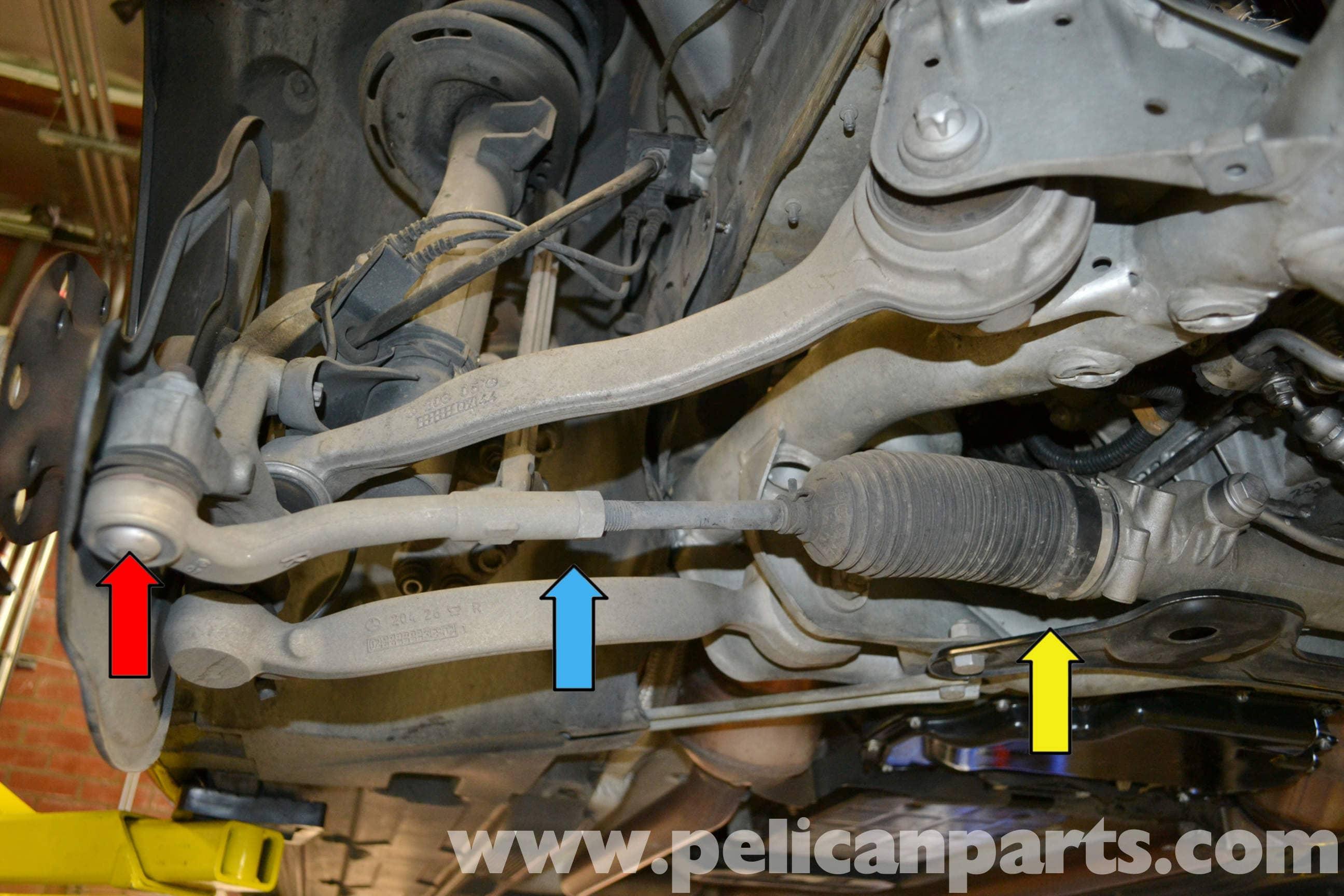 Mercedes Benz W204 Tie Rod Replacement 2008 2014 C250