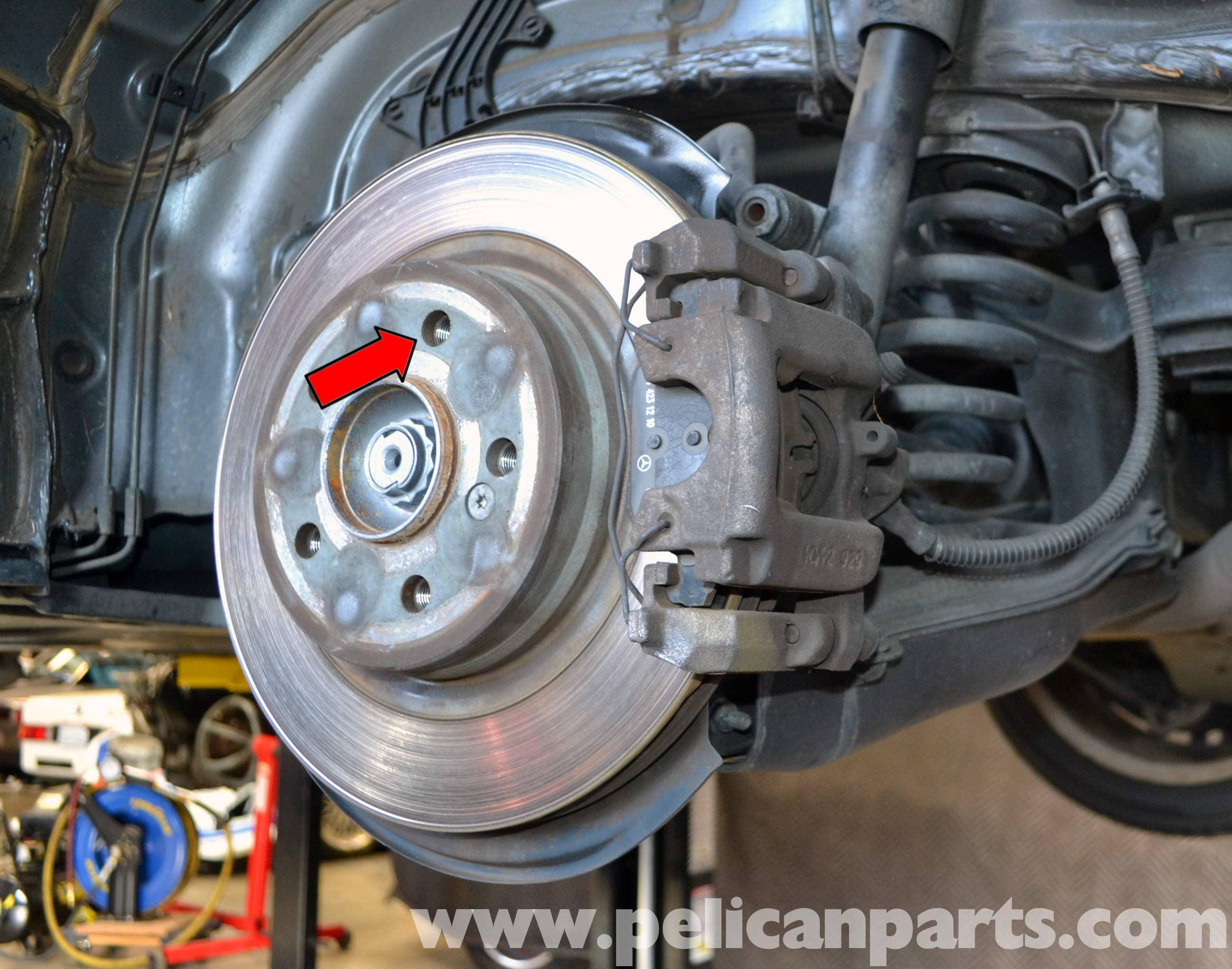 Mercedes benz w204 parking brake adjustment 2008 2014 for Mercedes benz c300 brake rotors