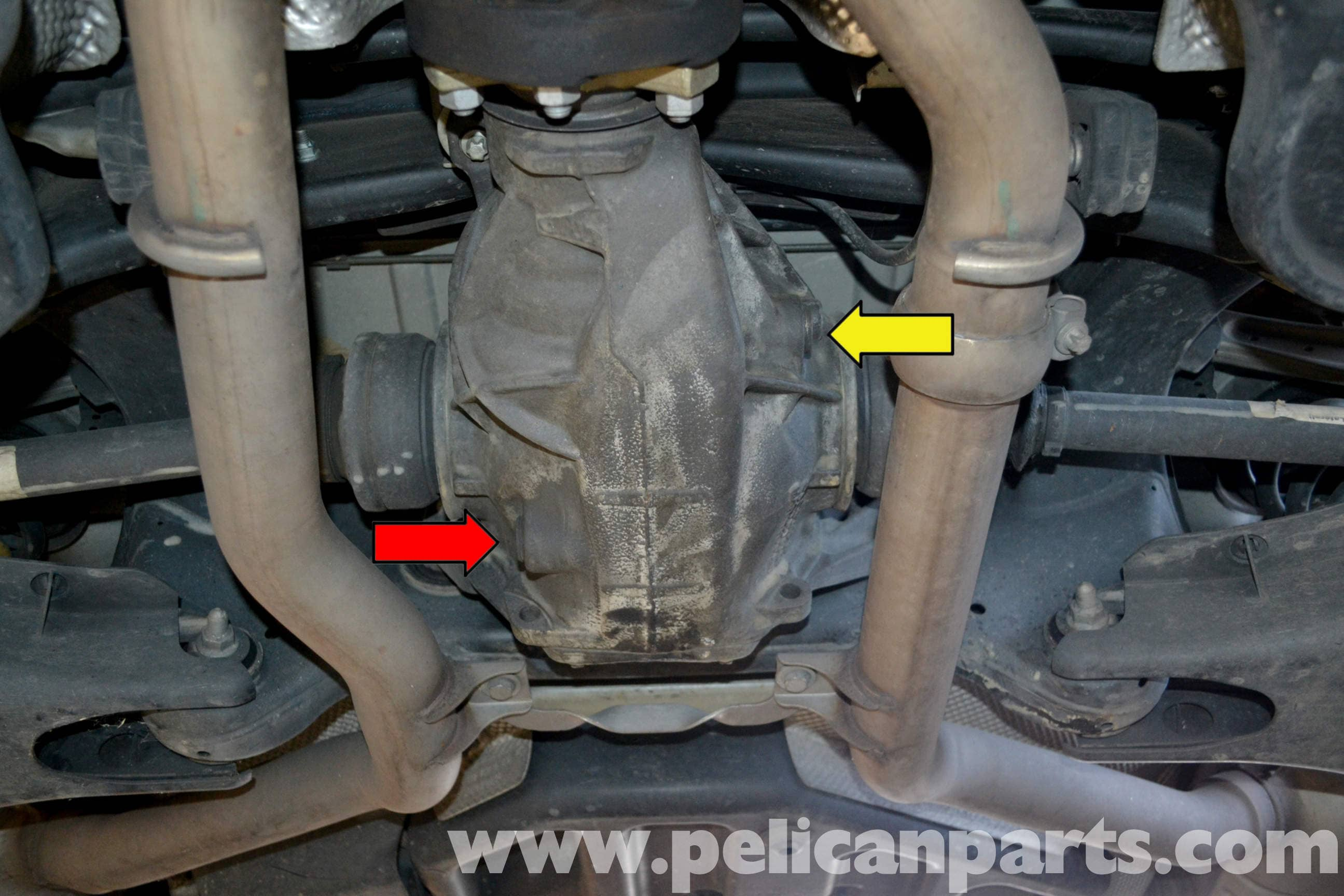 Mercedes-Benz W204 Differential Fluid Replacement - (2008