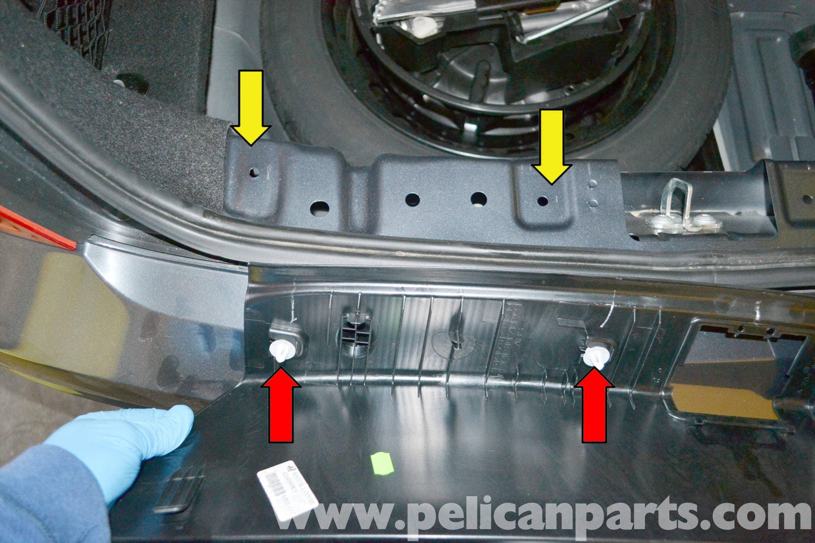 Mercedes Benz W204 Rear Bumper Cover Removal 2008 2014