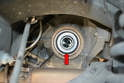 If the differential has been leaking, replace the seal by prying out the old one and installing a new one.