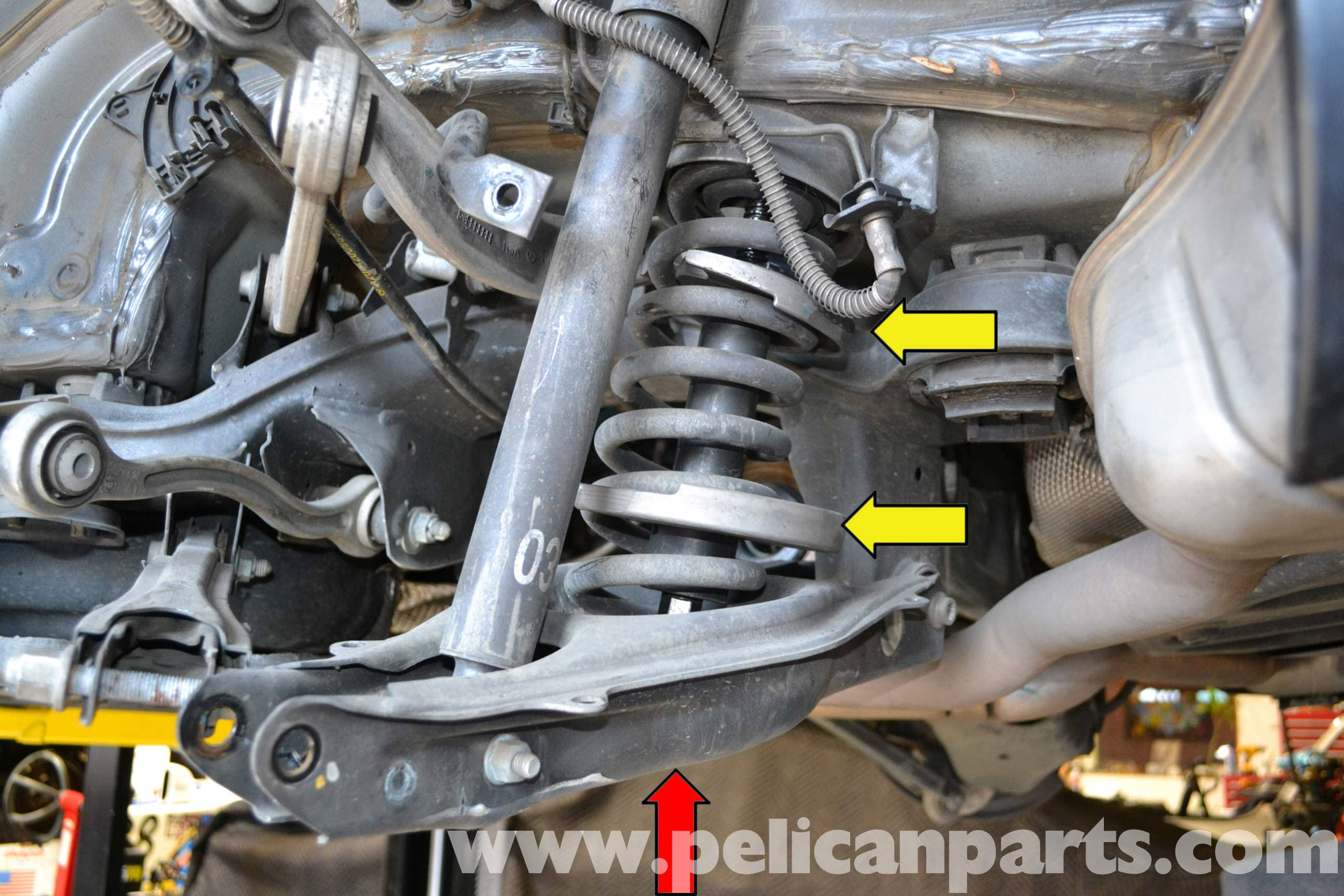 Mercedes Benz W204 Rear Multi Link Suspension Replacement