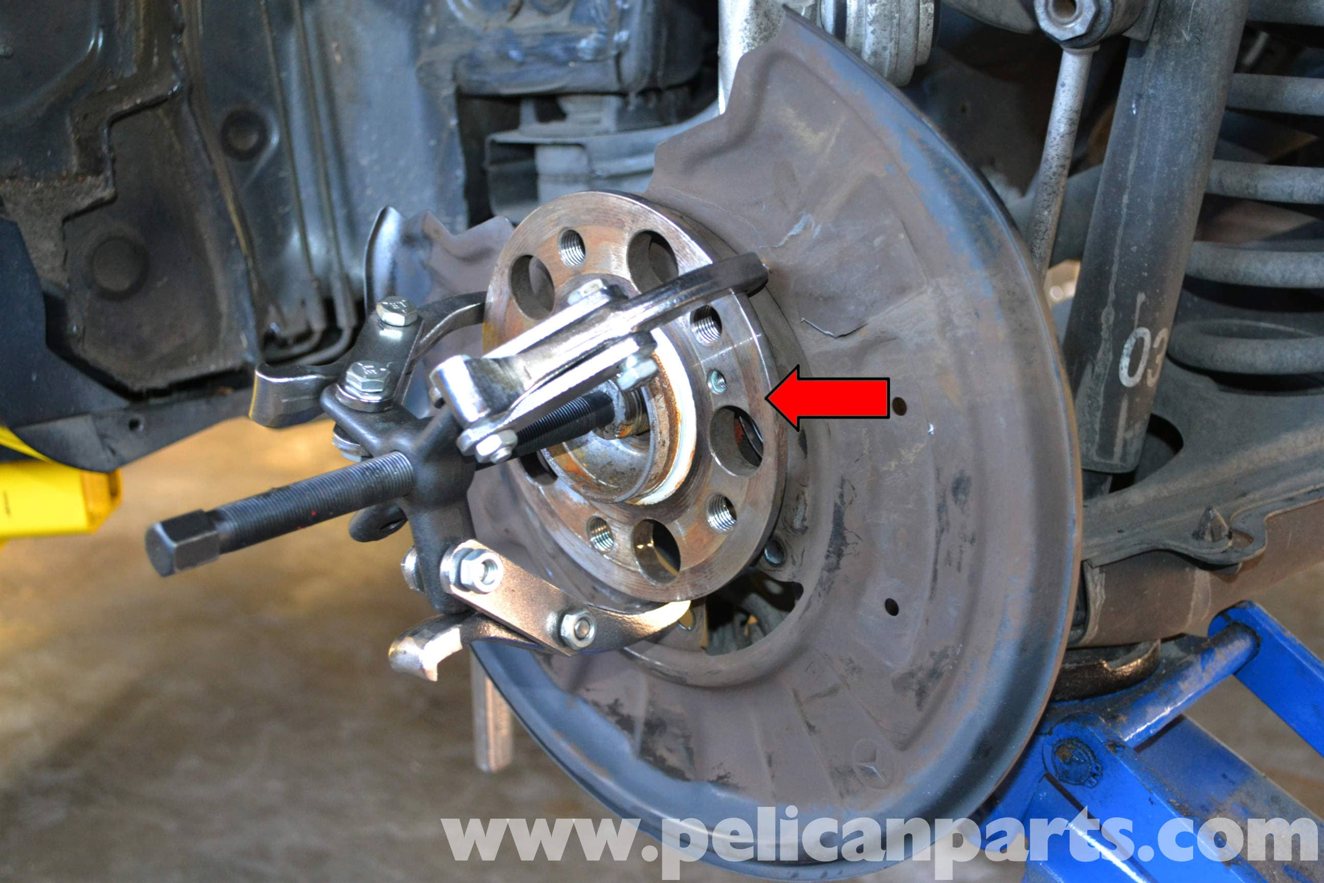 Mercedes Benz W204 Rear Bearing Replacement 2008 2014