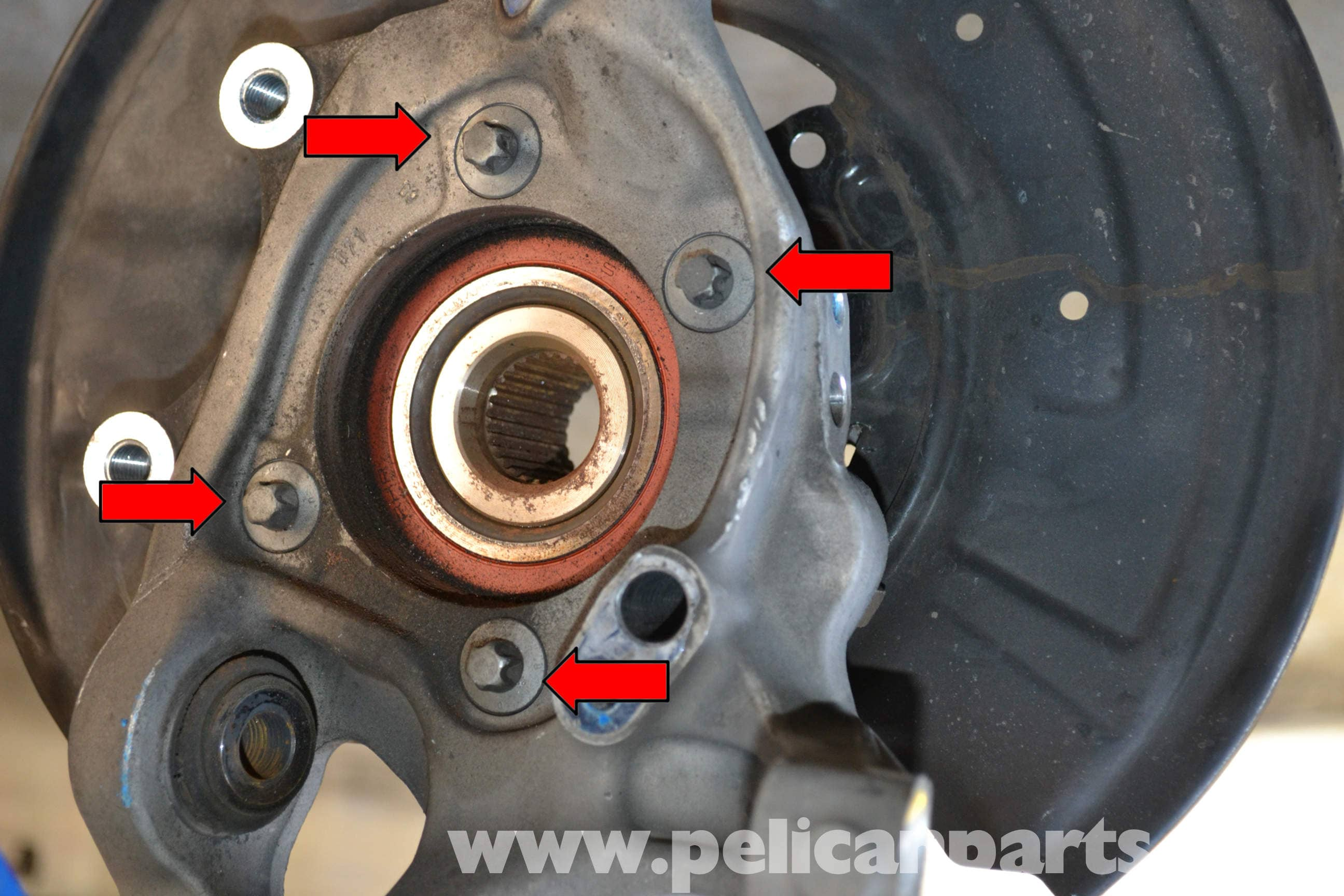 Mercedes-Benz W204 Rear Bearing Replacement - (2008-2014
