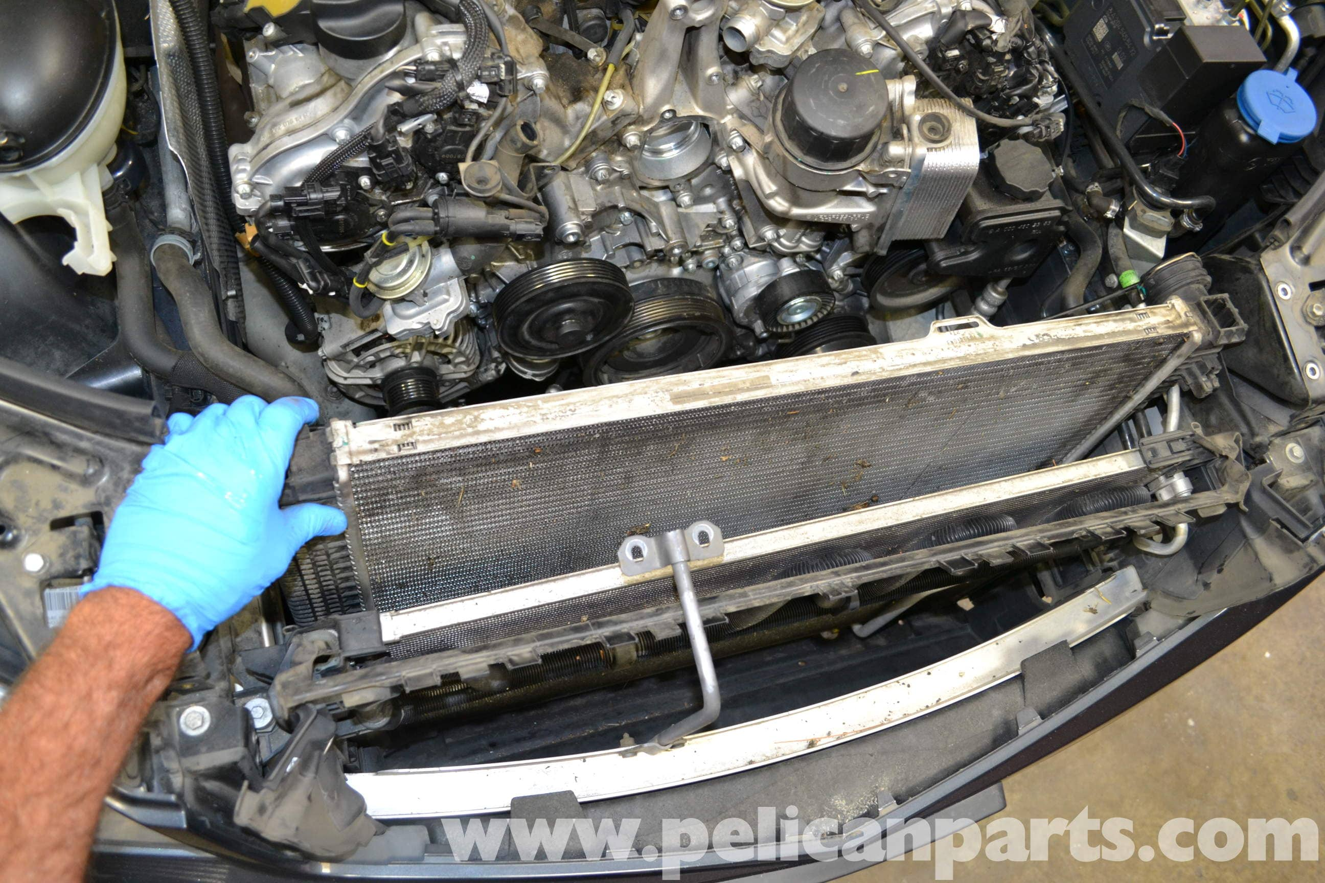Mercedes Benz W204 Radiator Replacement 2008 2014 C250