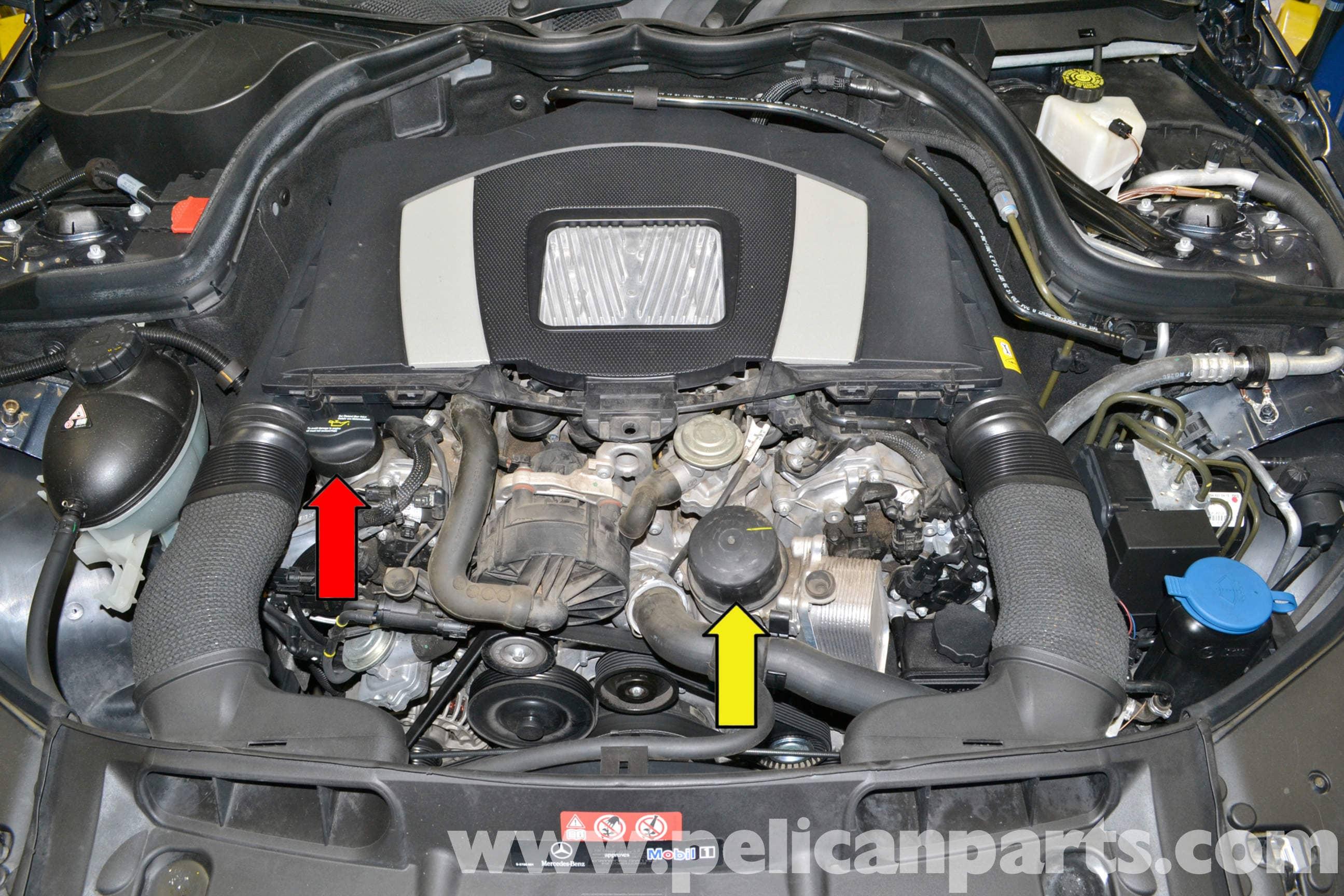Mercedes Benz W204 Oil Change 2008 2014 C250 C300 C350