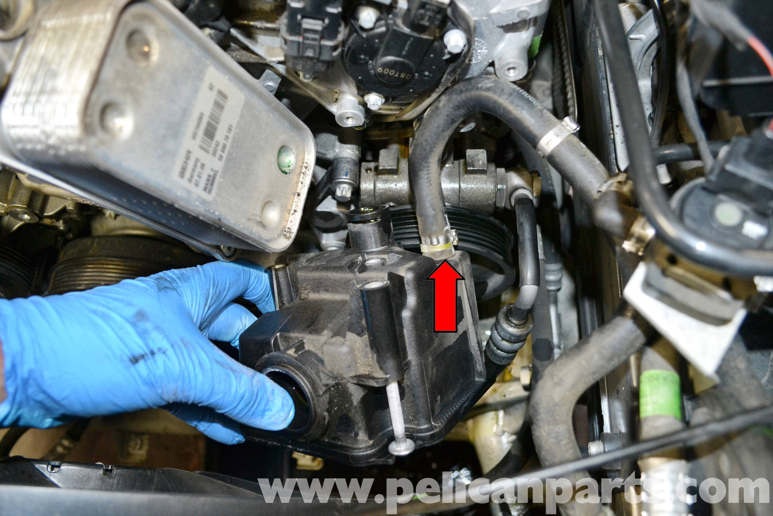 Mercedes-Benz W204 Power Steering Reservoir Replacement - (2008-2014