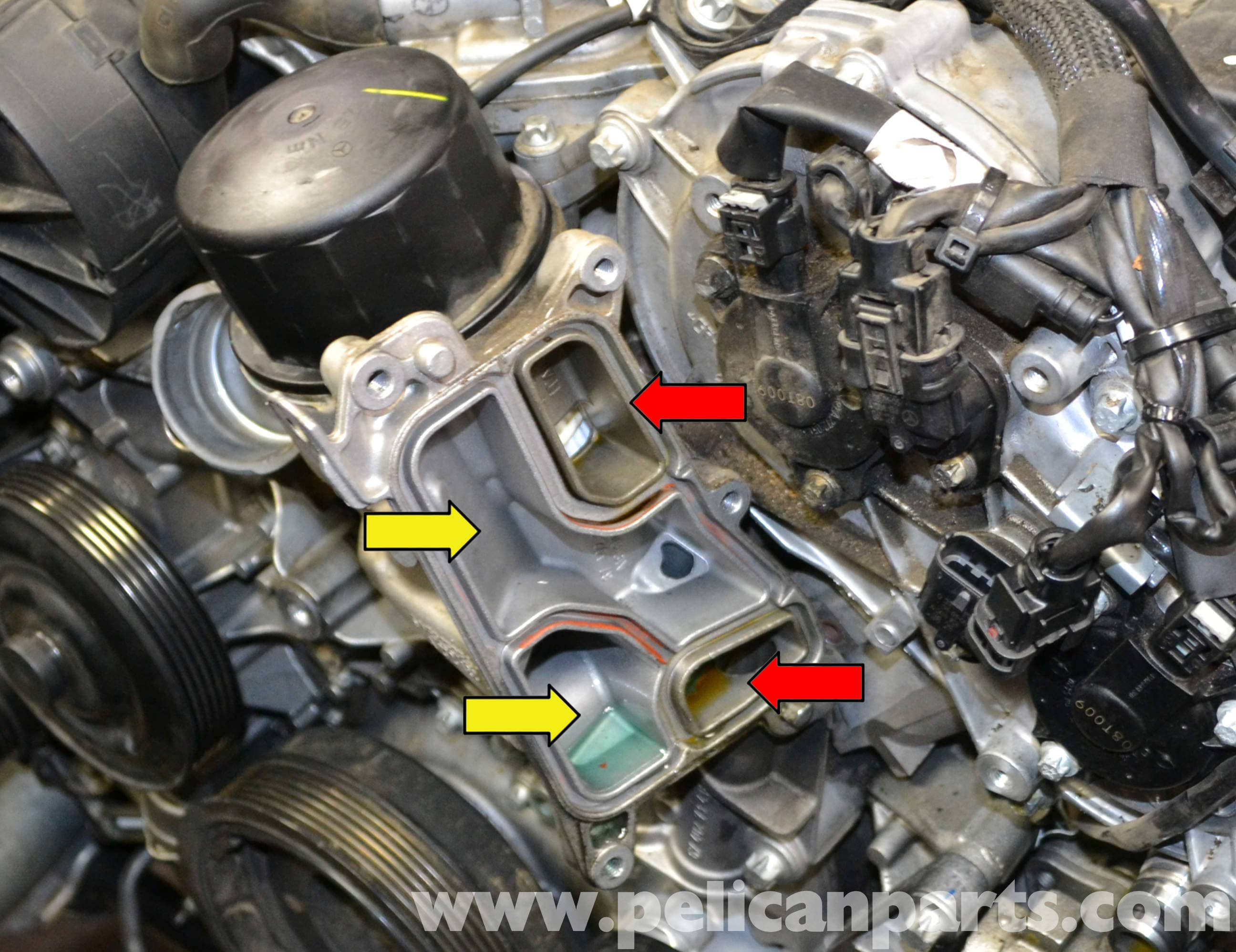 mercedes-benz w204 oil cooler and seal replacement - (2008 ... c300 mercedes engine coolant diagram