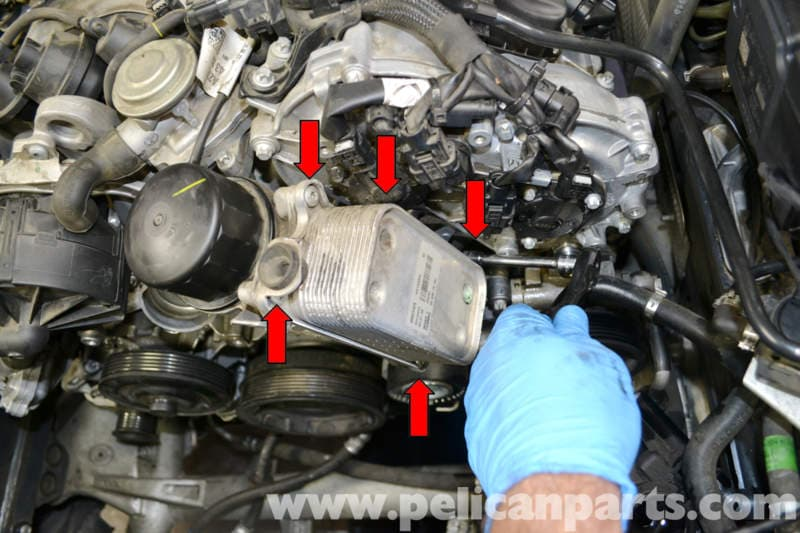 Mercedes benz w204 oil cooler and seal replacement 2008 for Mercedes benz cooler