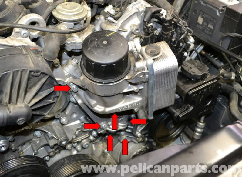 mercedes benz w204 oil housing and seal replacement. Black Bedroom Furniture Sets. Home Design Ideas