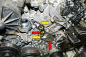In this photo you can see the channels for the oil (red arrows) and the channels for the coolant (yellow arrows).