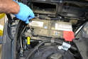 The first step in replacing any alternator is to disconnect the battery.
