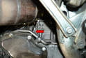 Inspect the starter opening before installing the new starter to make sure it is clean and flat.