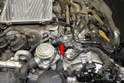 The MAP sensor is located on the front of the left valve cover (red arrow).