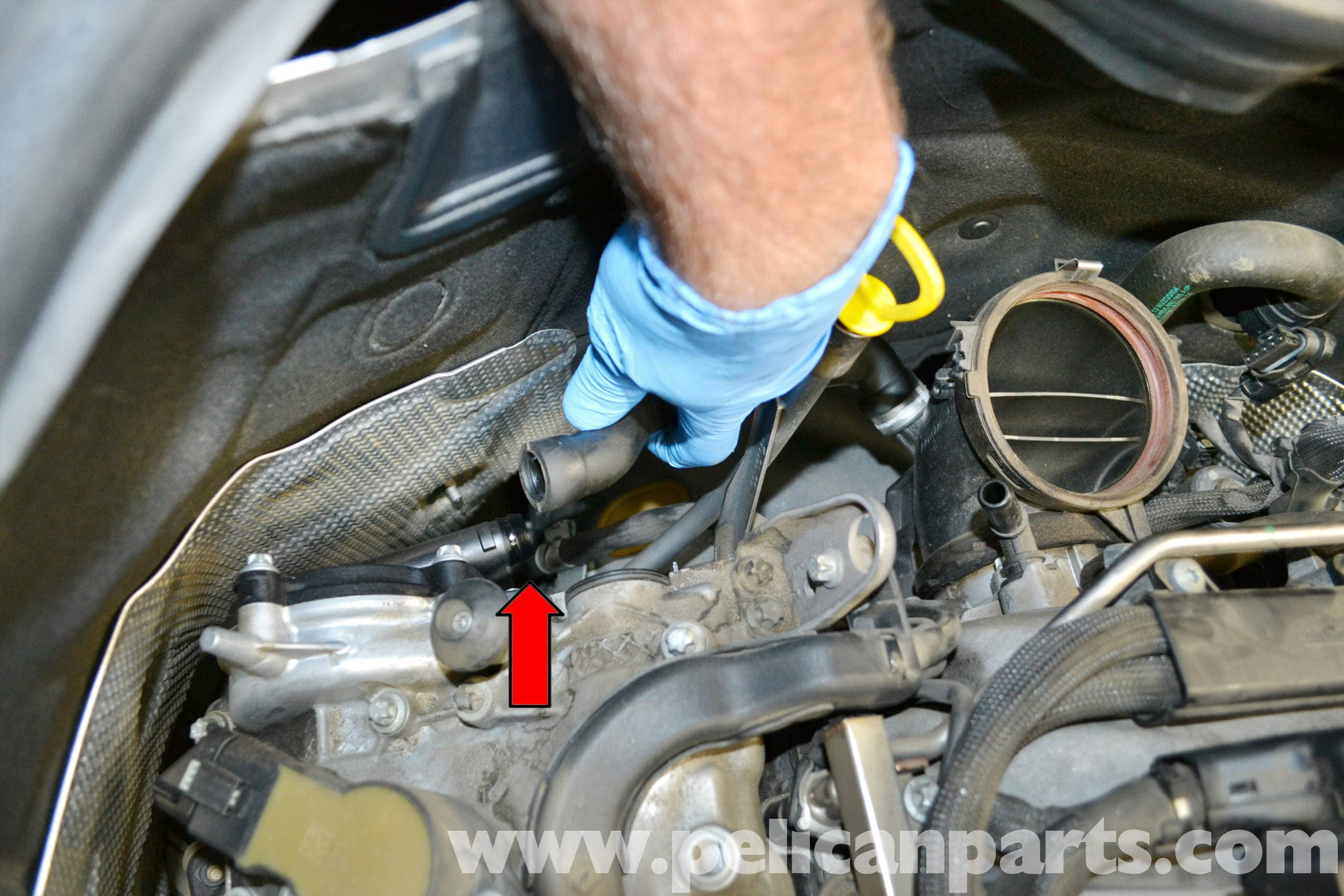 Mercedes Benz W204 Breather Hose And Cover Replacement