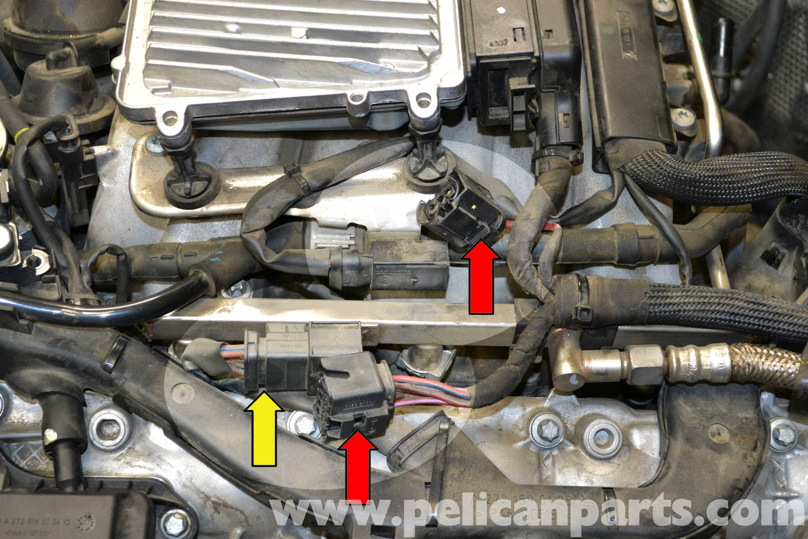 Mercedes-benz W204 Fuel Injector Replacement