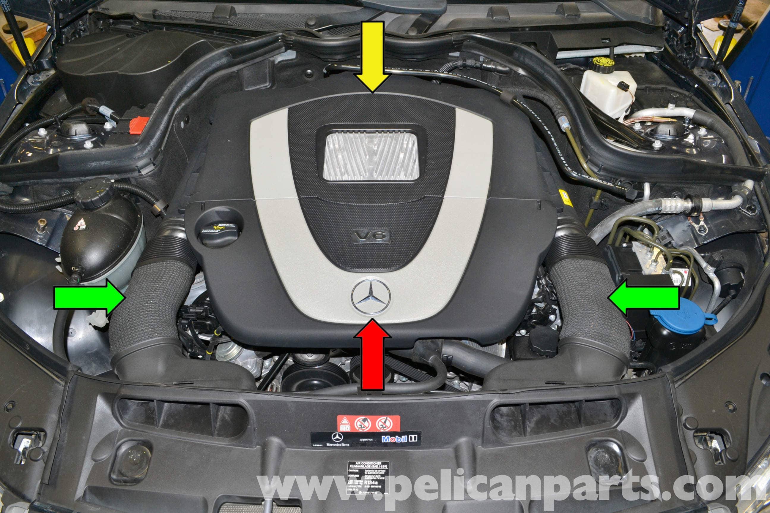 mercedes benz w204 knock sensors replacement 2008 2014 c250 rh pelicanparts  com Lexus RX300 Knock Sensor Location Lexus RX300 Knock Sensor Location