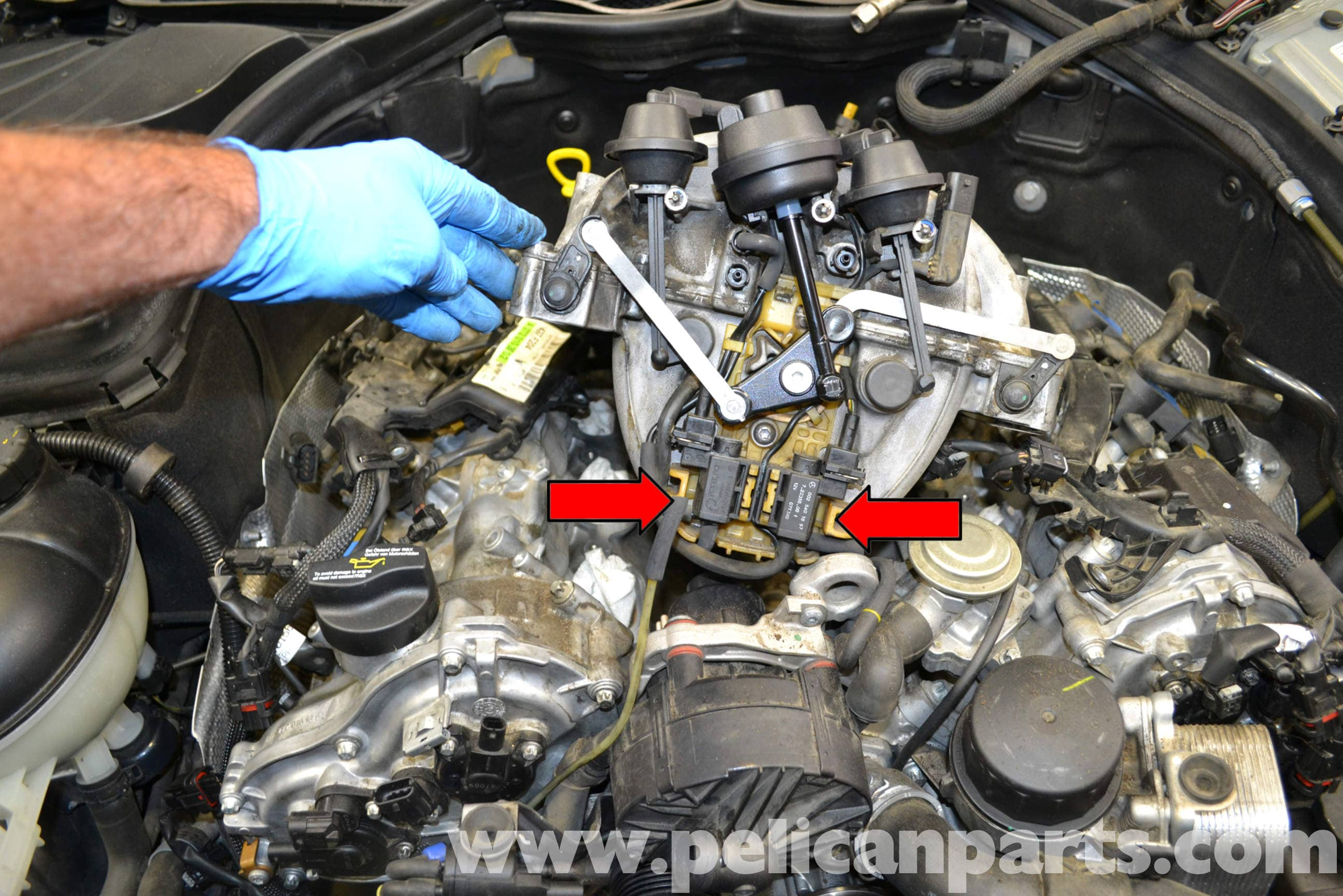 Mercedes-Benz W204 EGR Change-Over Valve Replacement - (2008