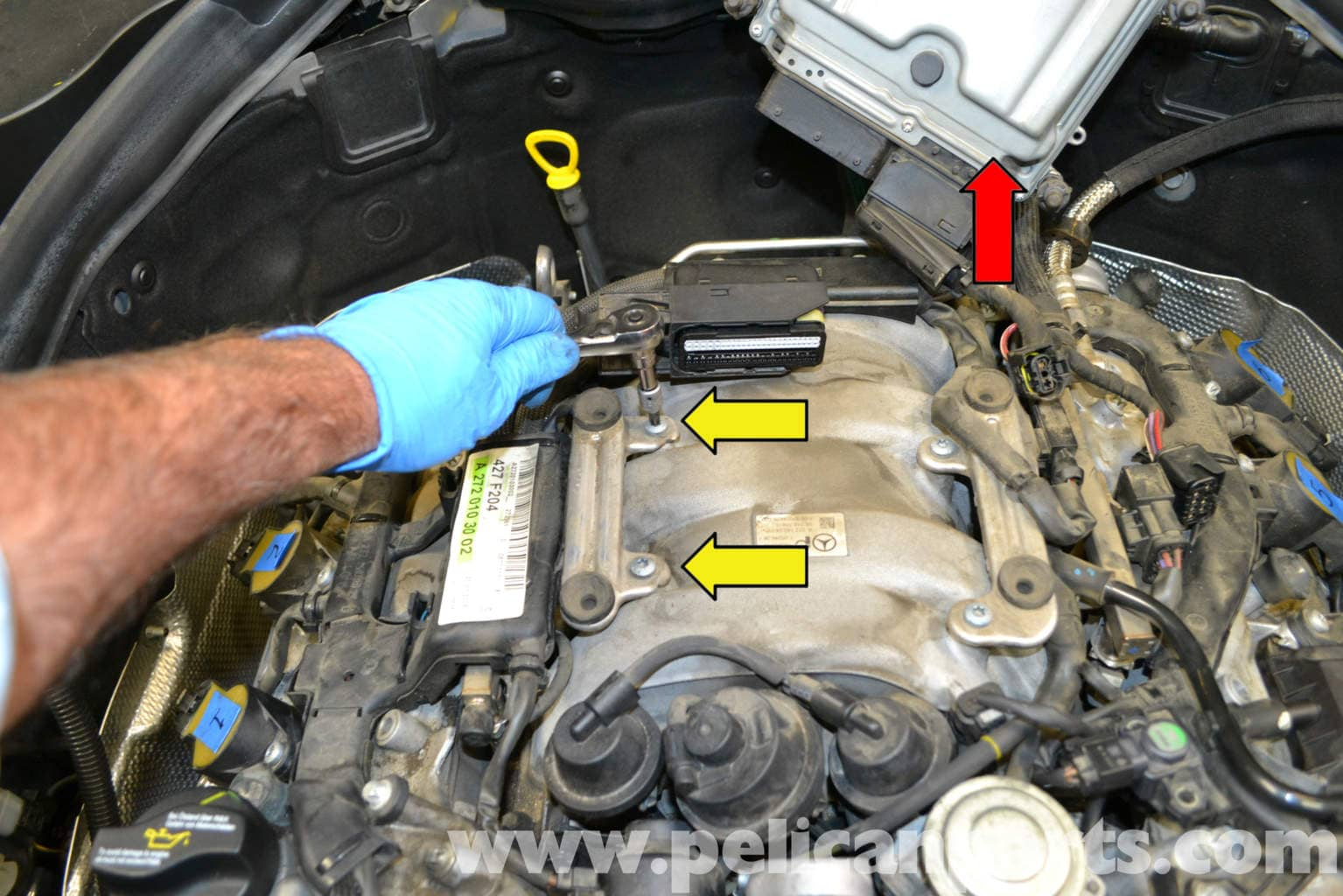 Mercedes-benz W204 Valve Cover Removal