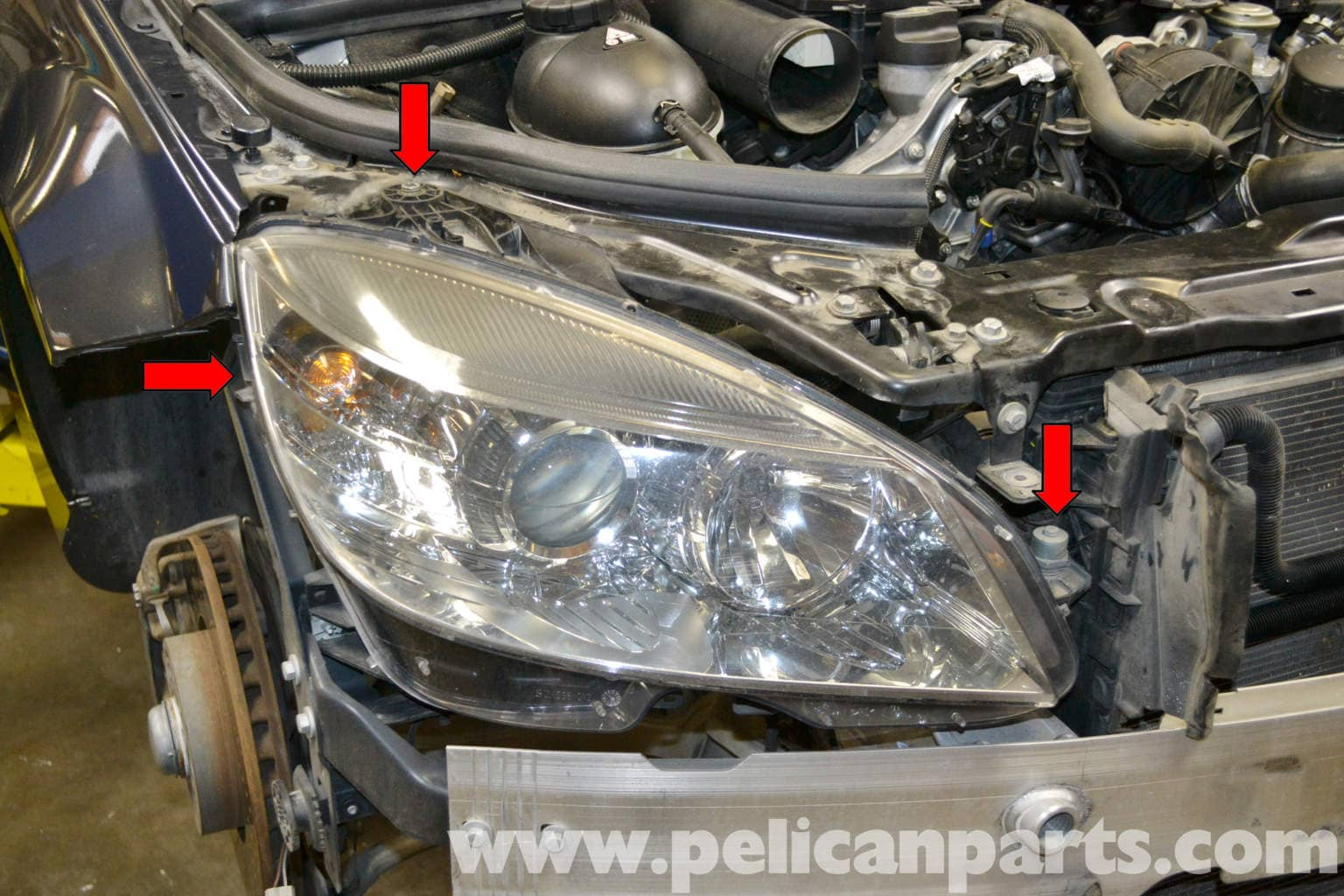 large image     mercedes-benz w204 headlight
