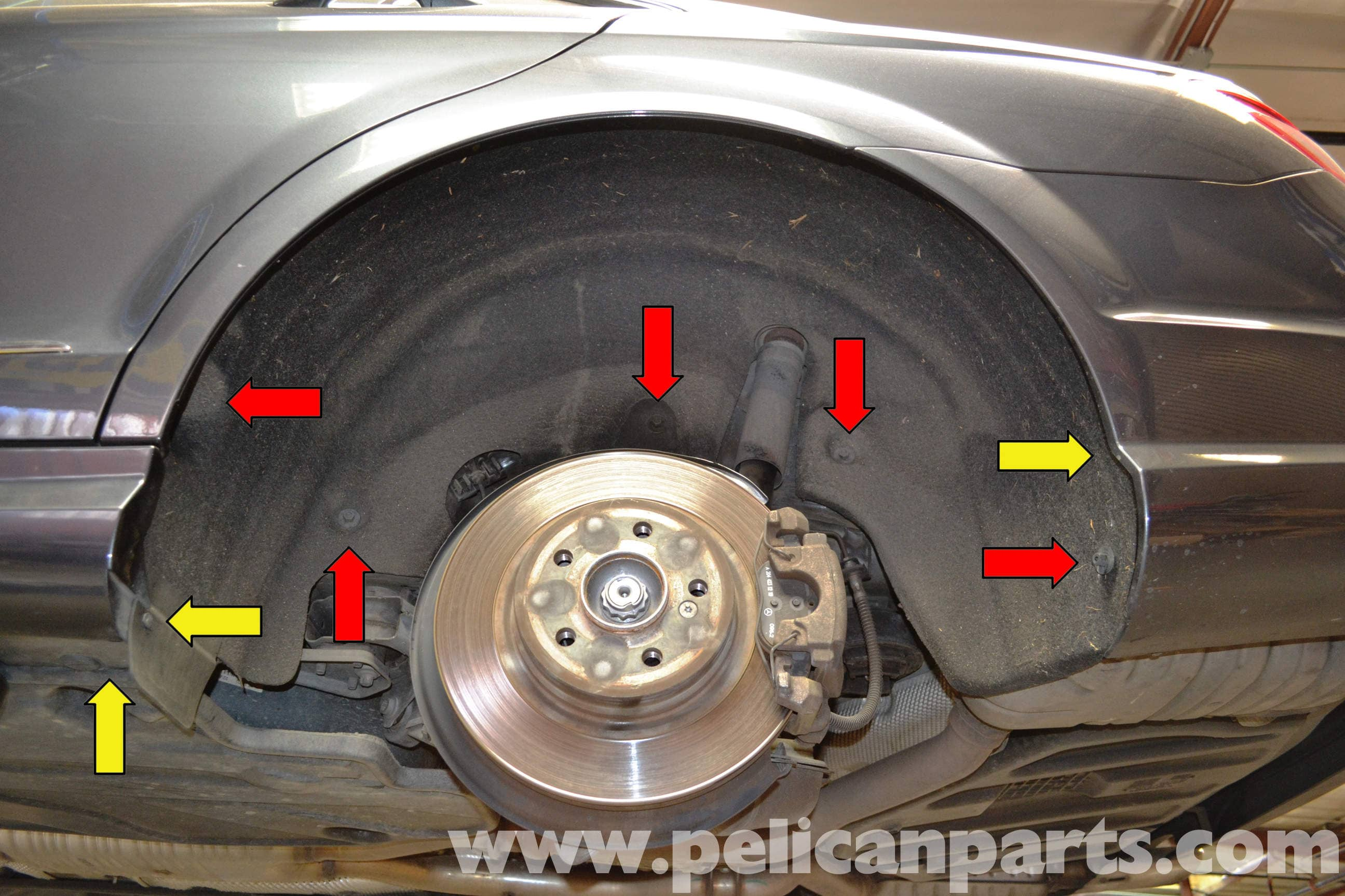 Mercedes Benz W204 Wheel Well Liner Removal 2008 2014 C250 C300 Fuse Box Diagram Large Image Extra