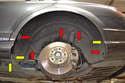 Rear- The rear liner is a single piece.
