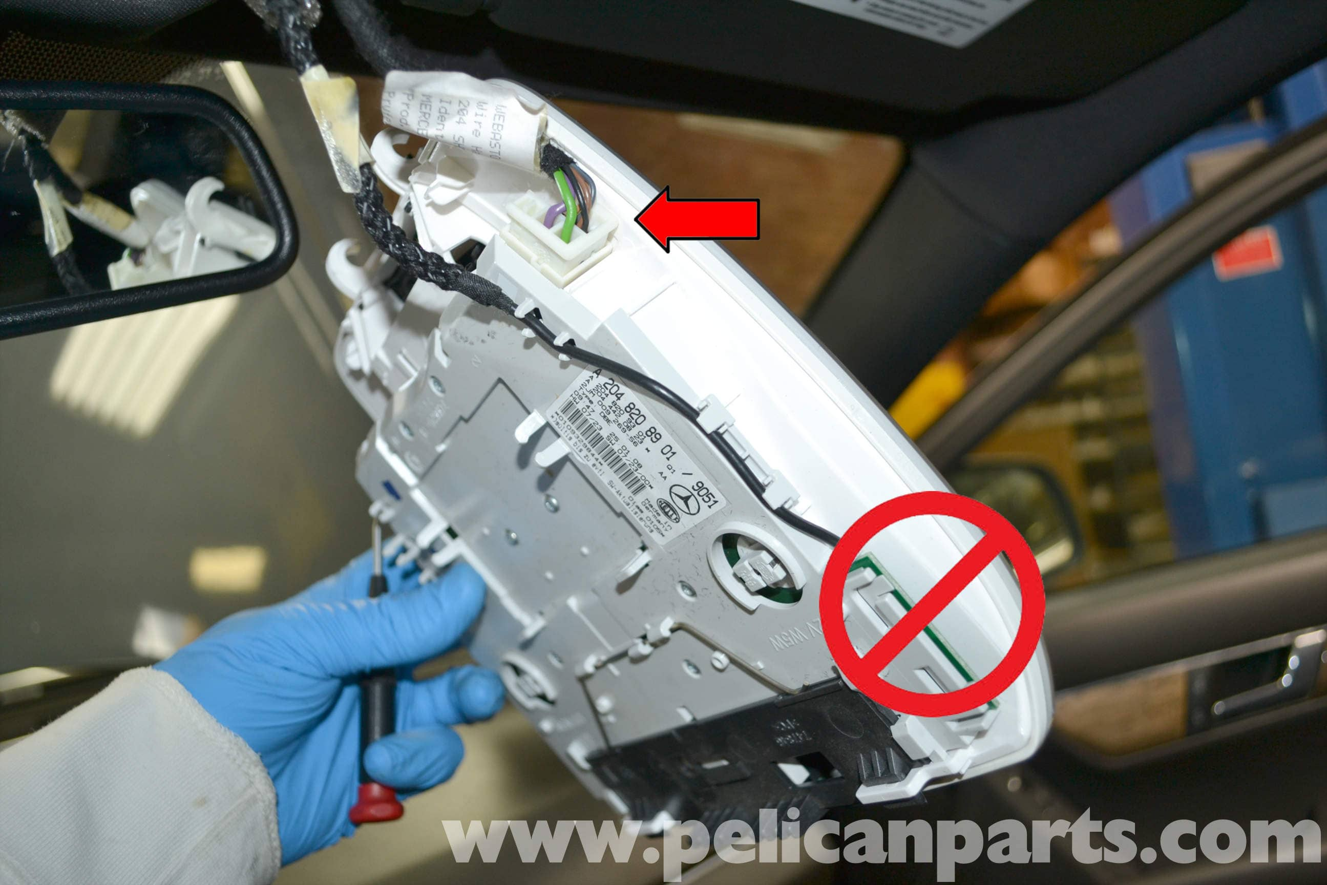 Mercedes-Benz W204 Overhead Console Replacement - (2008-2014) C250 ...