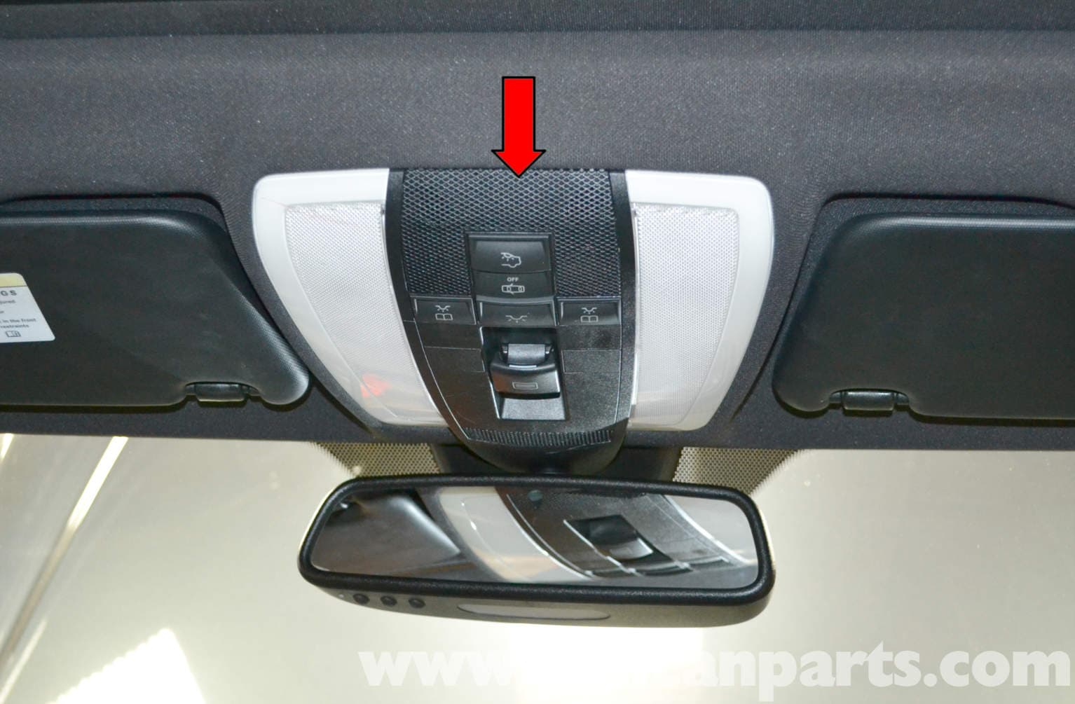 Mercedes Benz W204 Overhead Console Replacement 2008