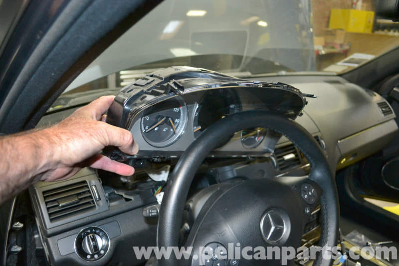 Mercedes benz w204 instrument cluster removal 2008 2014 for 2008 mercedes benz c300 parts