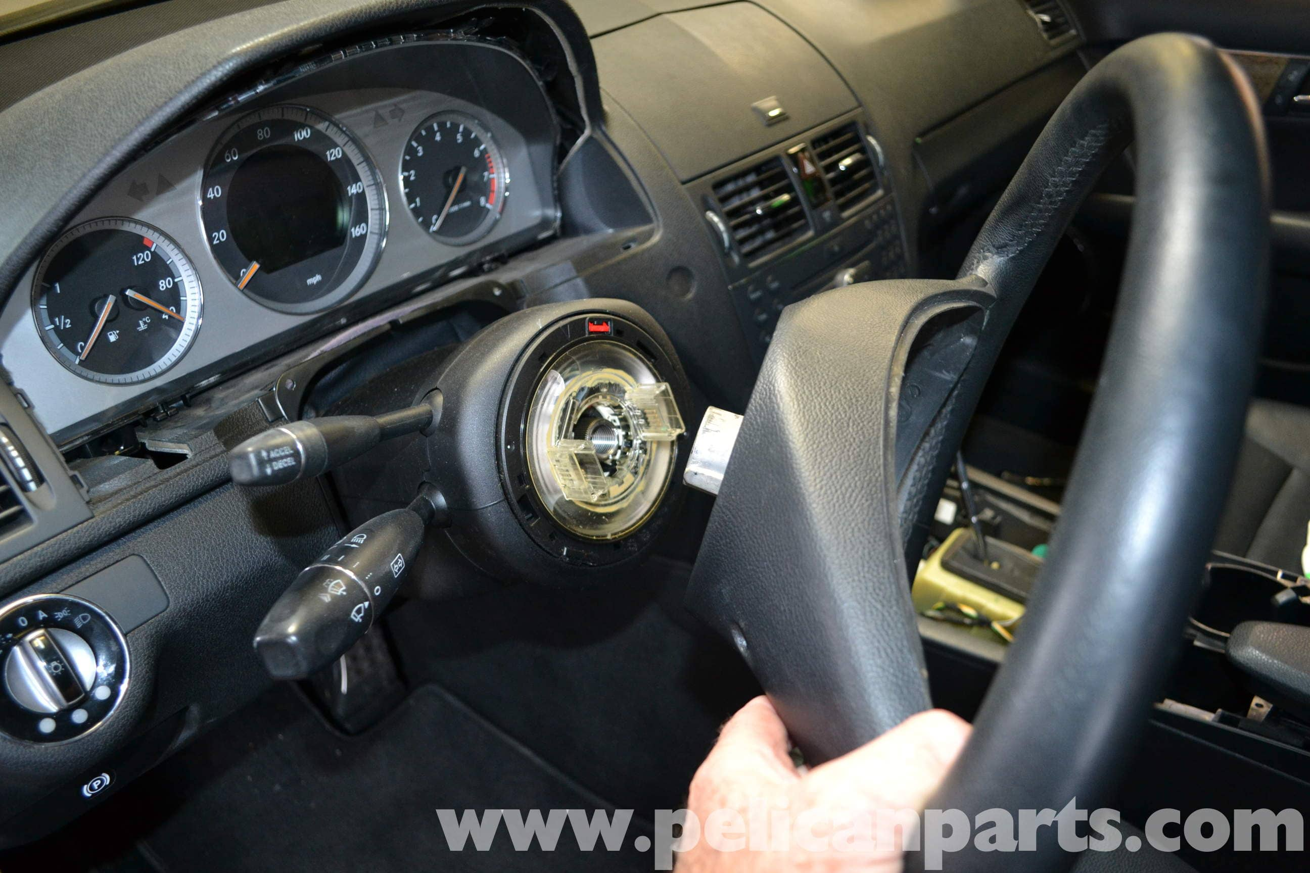 How to remove the steering wheel 59