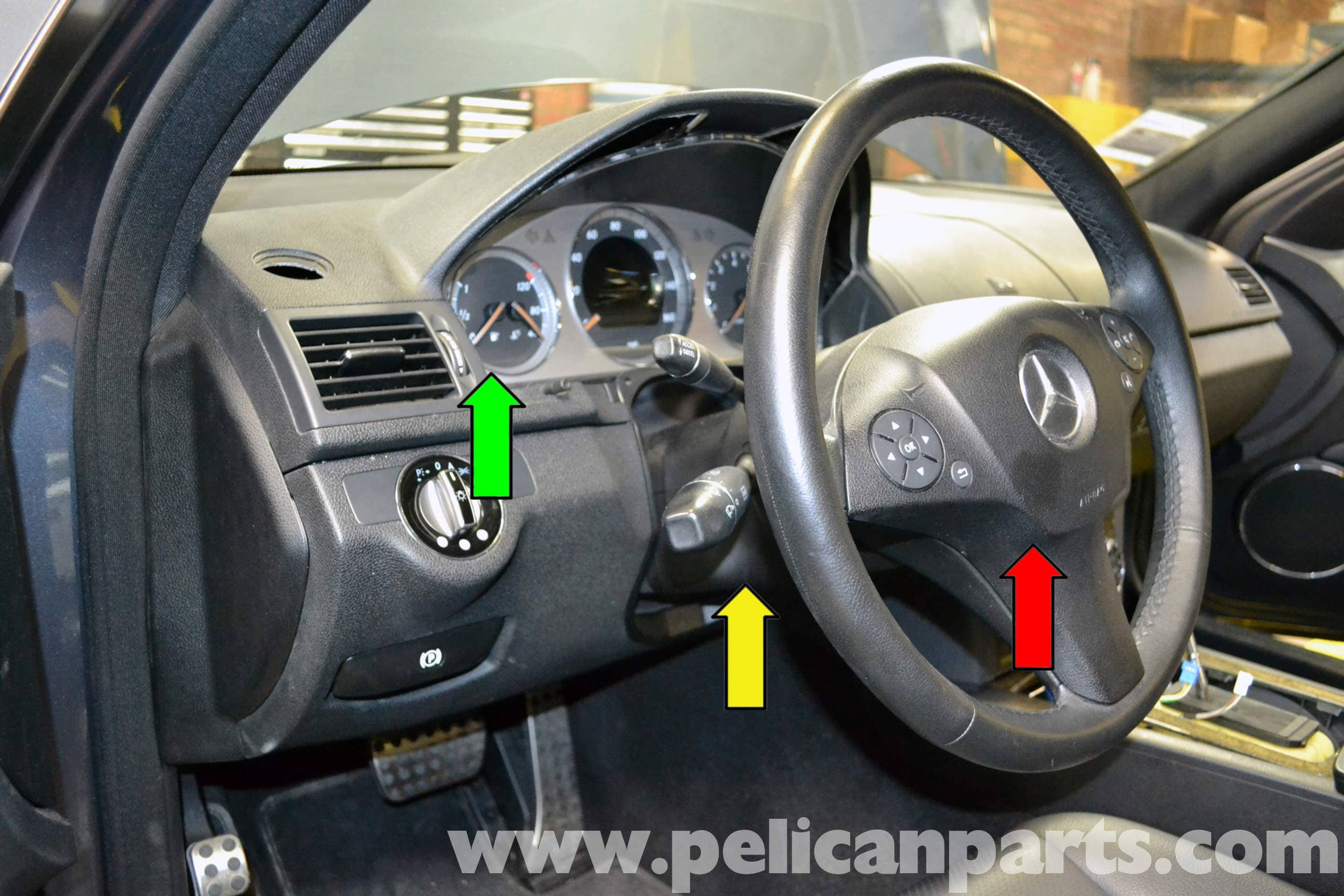 Mercedes-Benz W204 Ignition Switch Replacement - (2008-2014