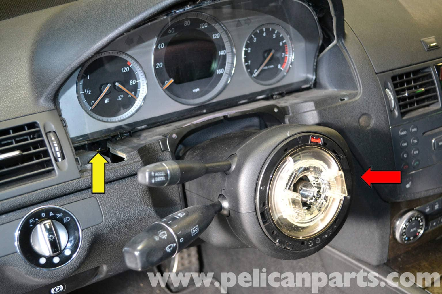 Mercedes benz w204 steering column switch tube module for Spare parts mercedes benz