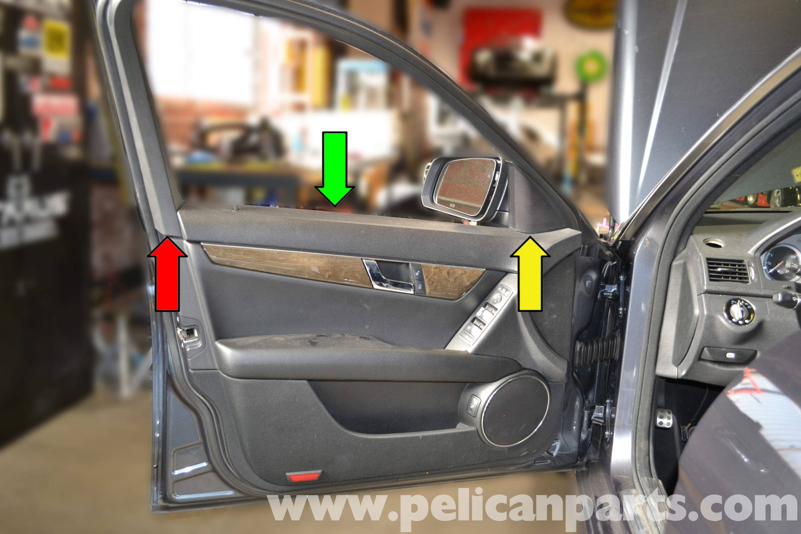 Large Image | Extra-Large Image & Mercedes-Benz W204 Front Door Panel Removal - (2008-2014) C250 C300 ...