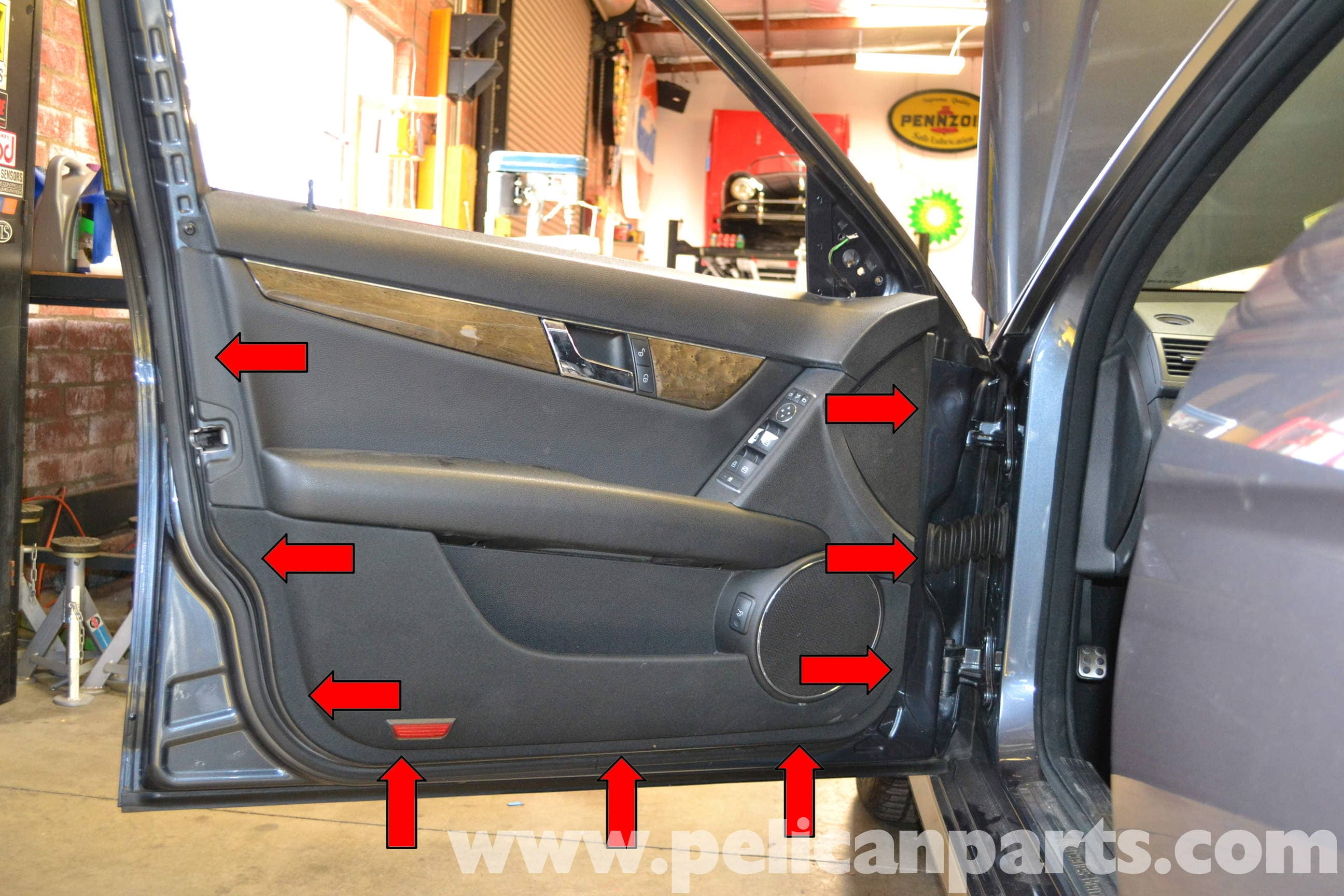 Mercedes Benz W204 Front Door Panel Removal 2008 2014