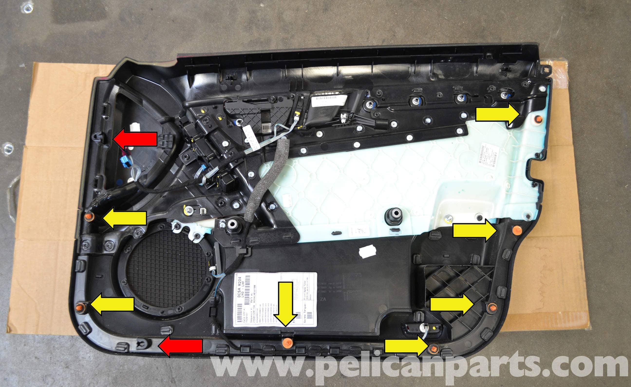 Mercedes-Benz W204 Front Door Panel Removal - (2008-2014) C250, C300