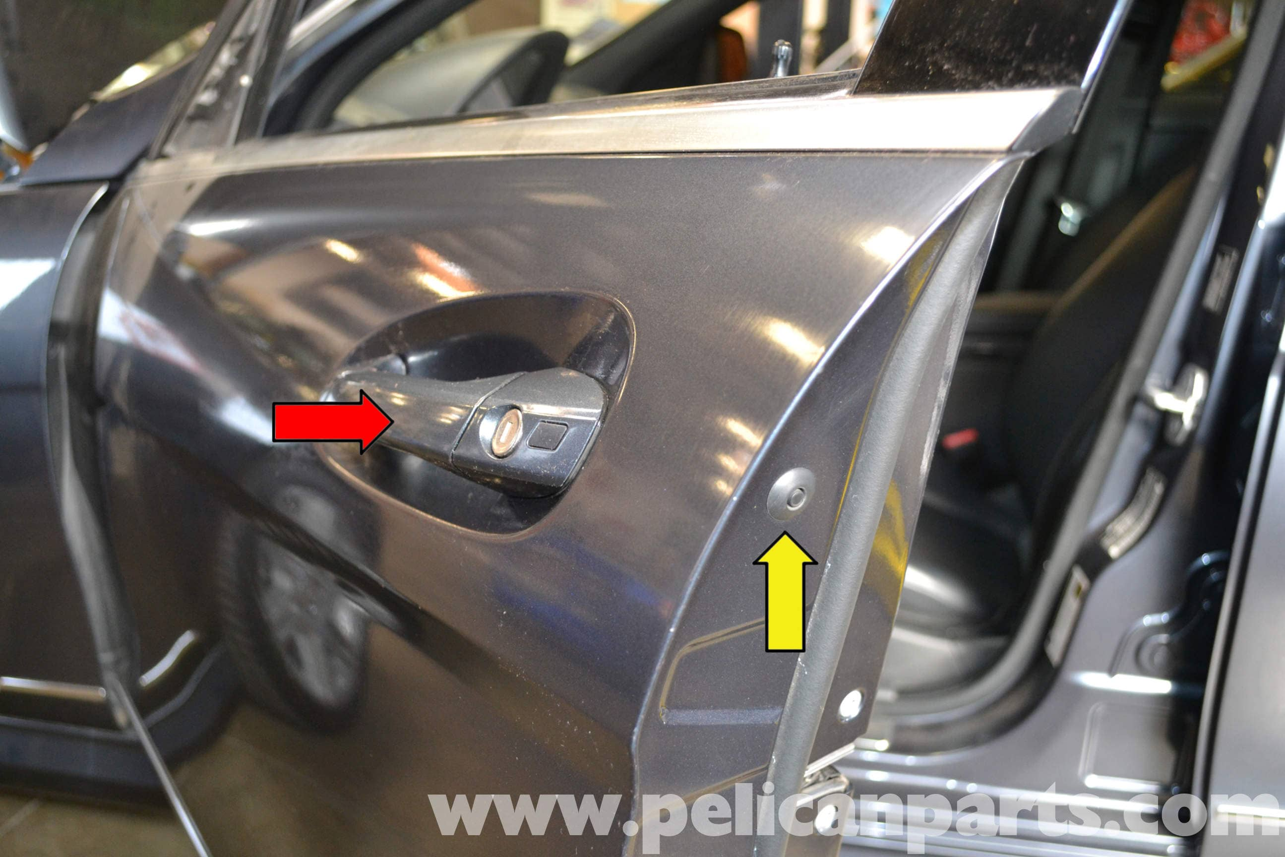 Mercedes Benz W204 Exterior Door Handle Removal 2008