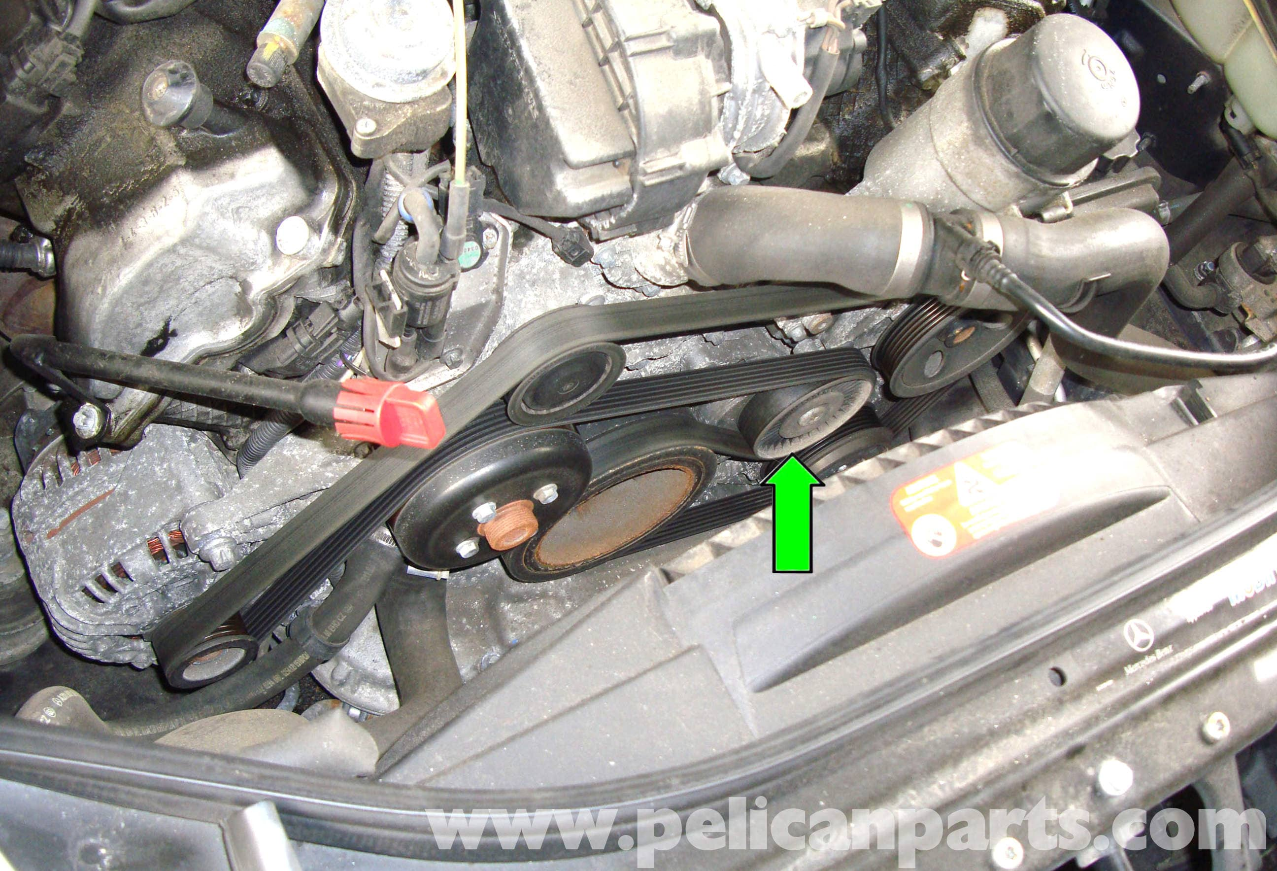 Mercedes Benz W211 Accessory Drive Belt Replacement 2003