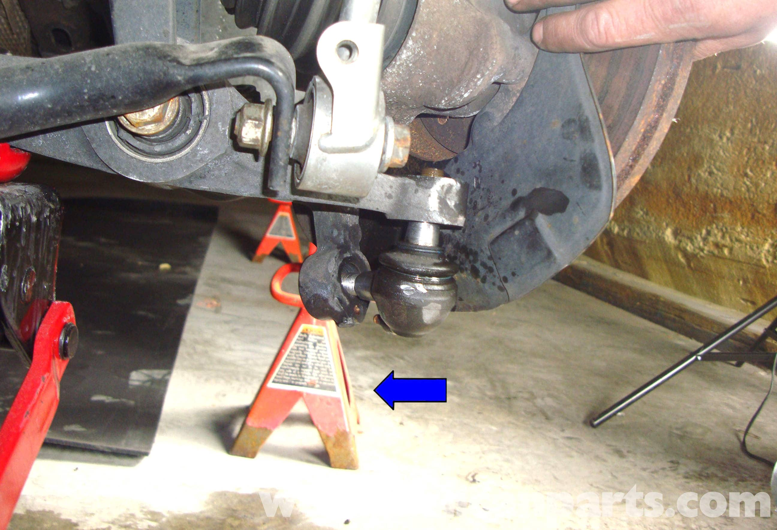 Mercedes Benz W211 Front Lower Ball Joint Replacement