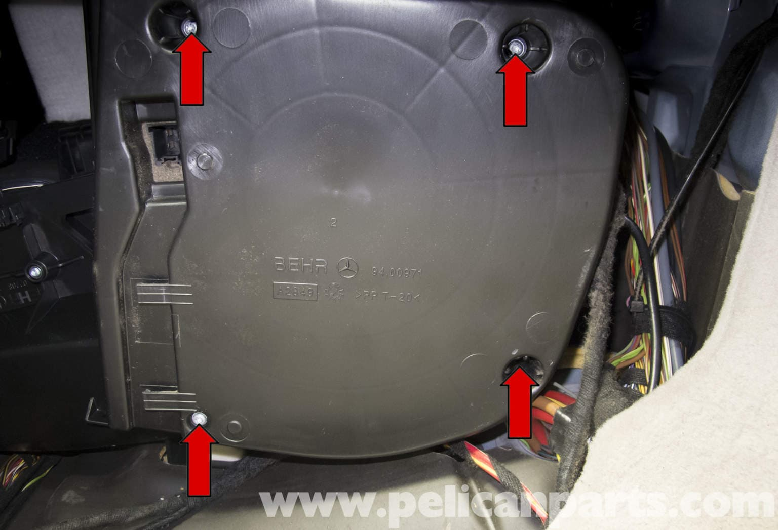 Mercedes Benz W211 Blower Motor Replacement 2003 2009