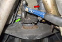 With the driveshaft moved aside (red arrow), install the new Giubo.