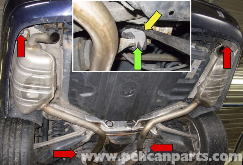 Next You Have To Detach The Rear Exhaust Supports: Mercedes E350 Exhaust System At Woreks.co
