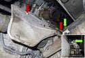 If you removed the right side front exhaust pipe, the next step is to remove the heat shield.